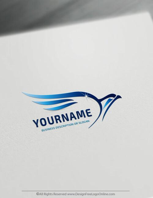 Free Falcon Logo Maker Design - Clean Bird Logo Template