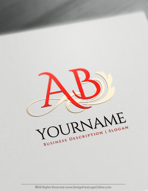 Online Letter Logo Design Maker Classic Initial Logo Template