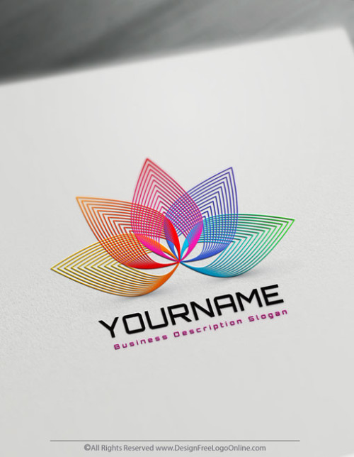 Design your own Lotus logo free. No registration