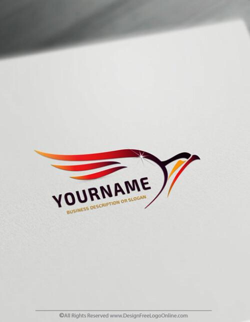fire bird Free phoenix Logo Maker Design Template