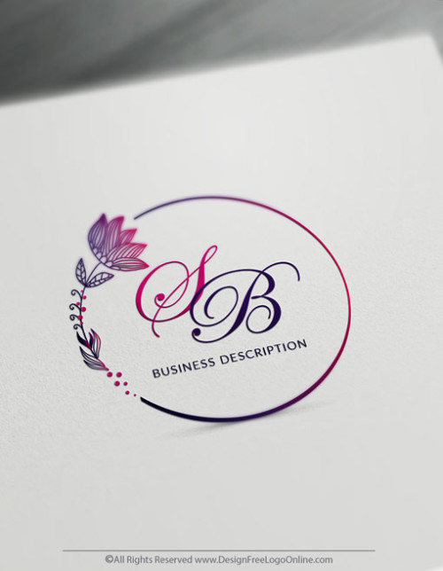 Online flowers logo making. Design Your Own Floral Logo