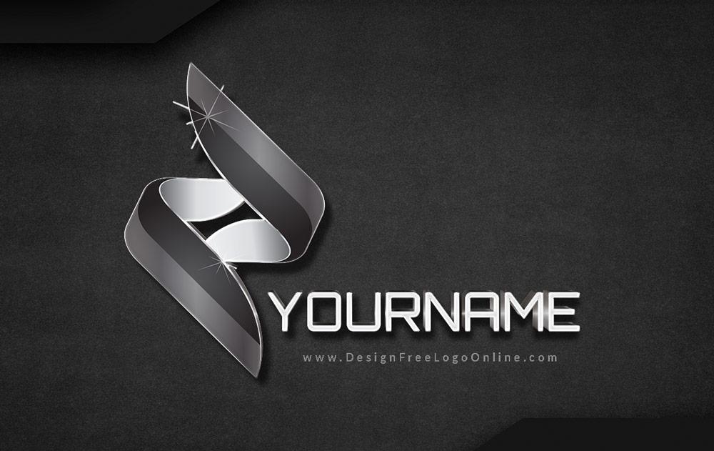 flowing black 3D synergy logo
