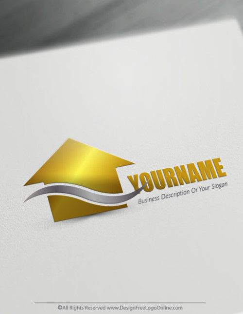 Create your own Gold house logo Design Online