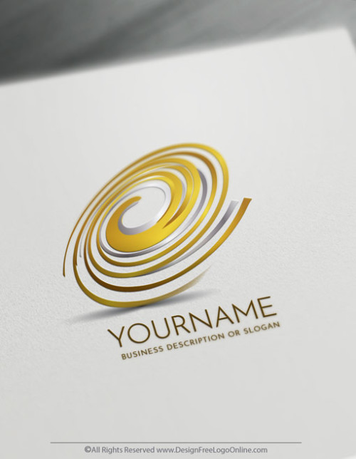 Create Gold Spiral Logo Design Online Using The Logo Maker