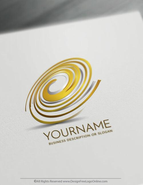 Create Gold Spiral Logo Design Online Using The Logo Maker