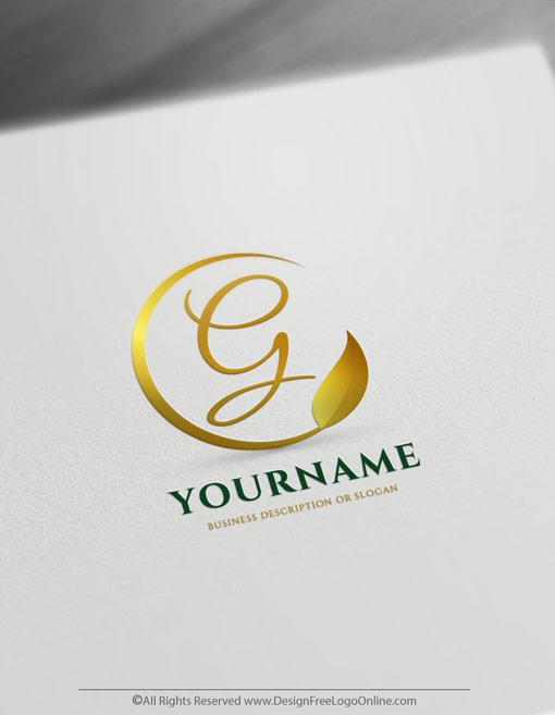 Golden leaf logos free design templates