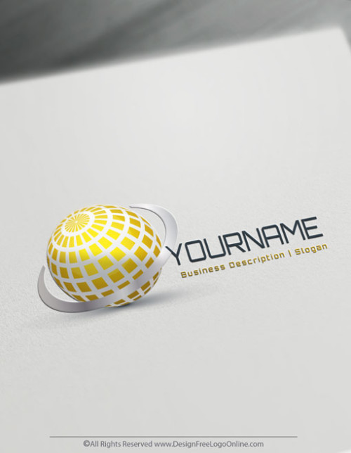 Create Your Own Online 3D Gold World Logo Design Ideas.