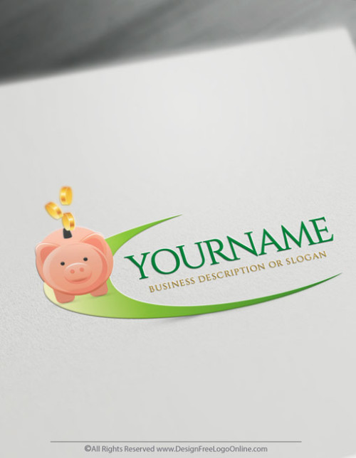 Create Your Own Online Piggy Bank Logo Design Ideas