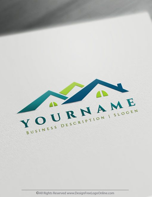 Design Your Own Roofing Logo Real Estate Houses Logos