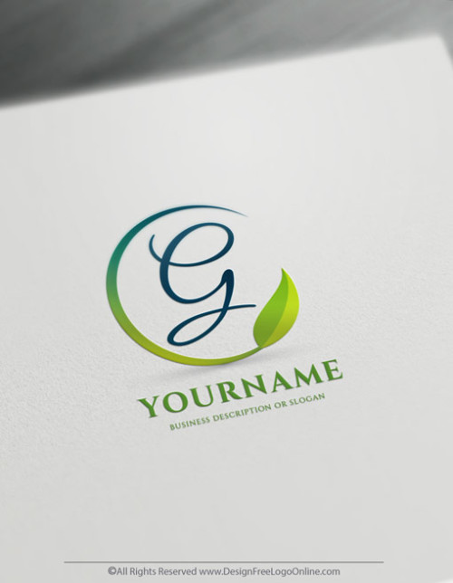 vector leaf logo branding with original free logo design templates