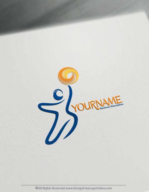 Free Hand Drawn Human Reaching Logo Template