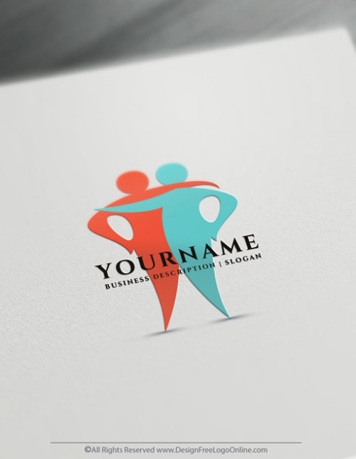 Instantly design your own hugging group logo ideas with the online logo maker