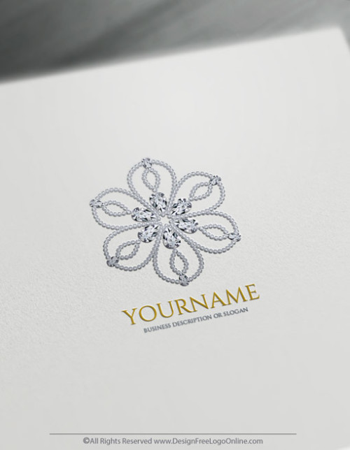 free jewelry logo maker luxuries flower diamonds logo maker