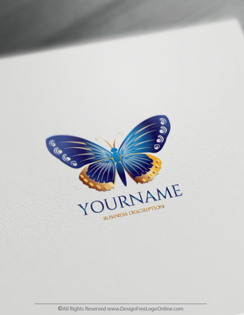 create a Blue Butterfly Logo with our Logo Maker. Download your Butterflies logo now