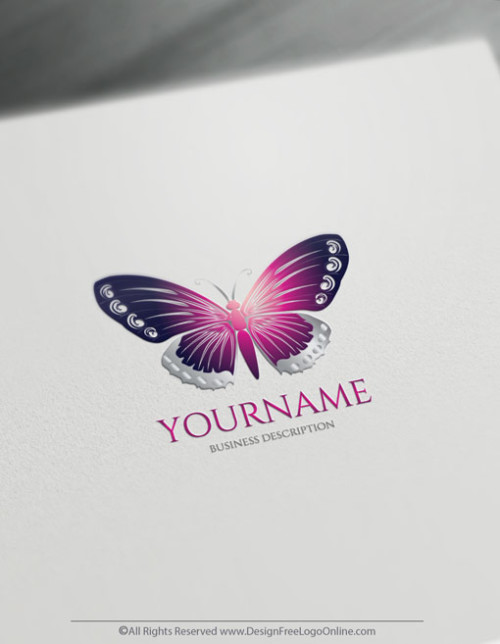 free Purple Butterfly Logo design maker