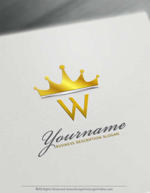 Design Your Own Online Modern Gold Crown Logo Ideas