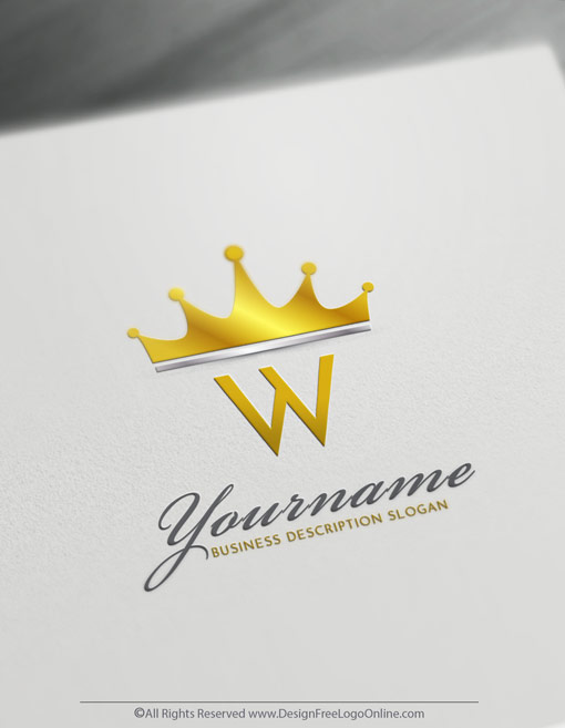 Modern Monogram Crown Design