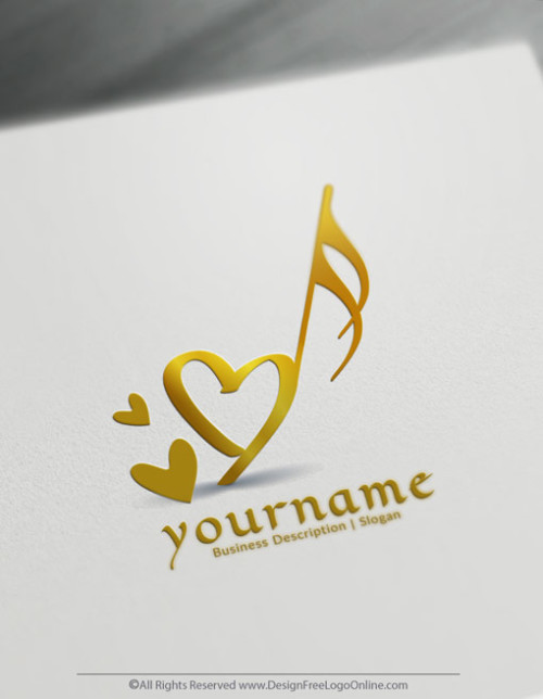 Customize Your Own Online Gold Music Logo Design Ideas.