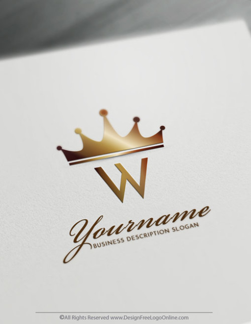 Design Your Own Online Modern Crown Logo Ideas