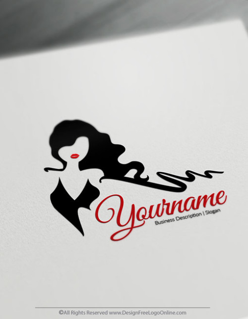 Sexy Woman Logo Makin Done With Online Icon Maker. Create your own Fashion logo free
