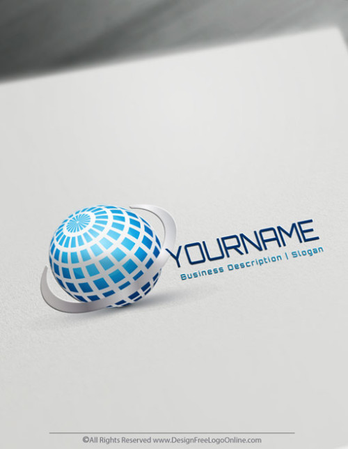 Create Your Own Online 3D World Logo Design Ideas.