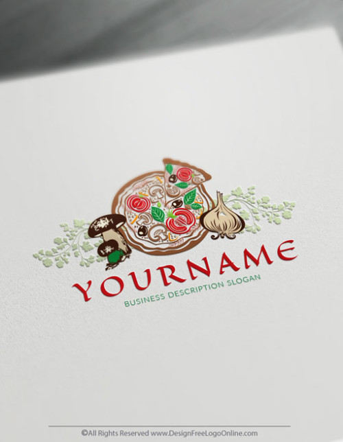 Free Pizzetta Logo Design Maker - Vintage Pizza Logo Template