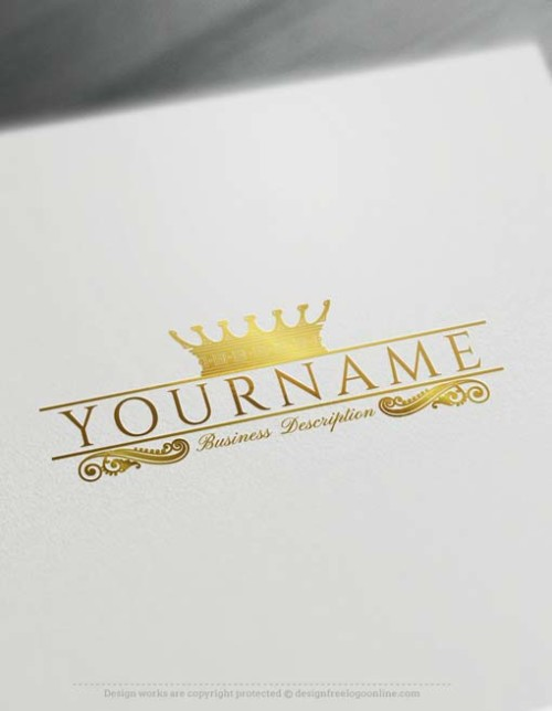 Create a brand Free with Luxury King Crown logo template