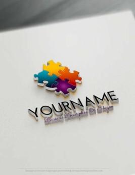 Create a Logo Free - Puzzle Logo Templates