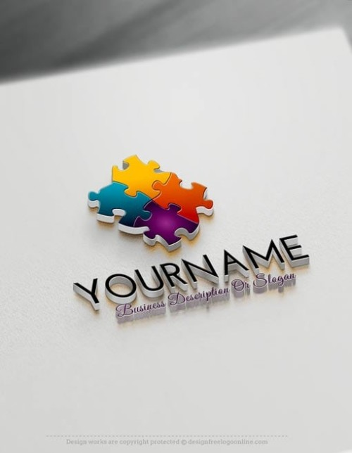 Create a Logo Free With 3D Logo Maker - 3D Puzzle Logo Templates