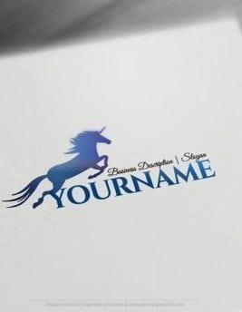 Customize this Unicorn Logo Templates brand yourself with our free logo maker. Make your own animal logos without graphic designer skills