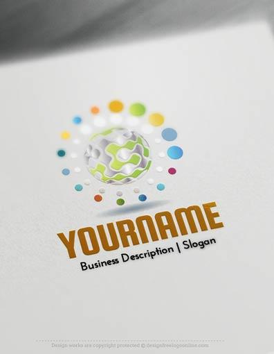 Design Free Logo: 3D Retro Sphere Logo Templates