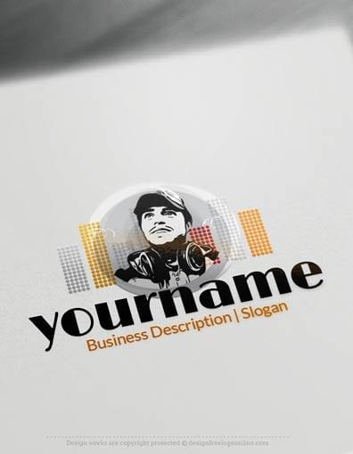 Design Free Logo: DJ Online Logo Templates