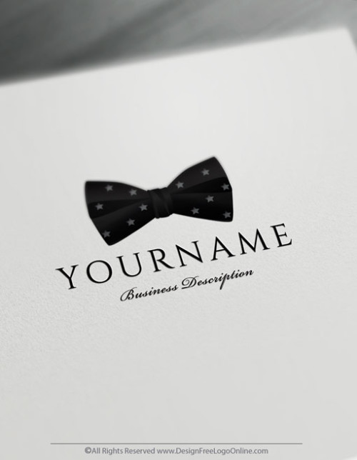 Instantly create your own Bow tie Logo design