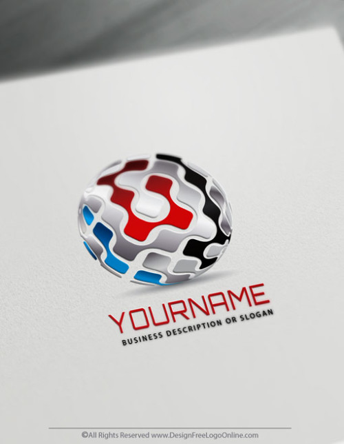Create Your Own Online 3D Tech Logo Ideas in Minutes, free without registration