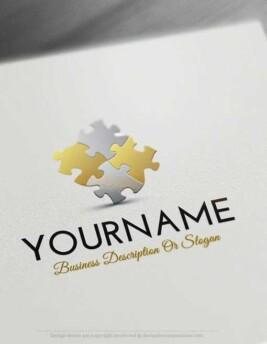 Create a Logo Free – Puzzle Logo Templates. make a logo Puzzle Free Logo maker