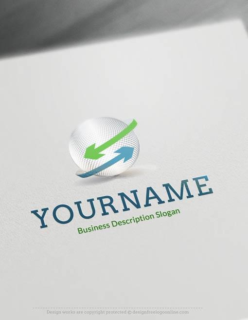 Create-a-Logo-Free--Arrows-Globe-Logo-Templates