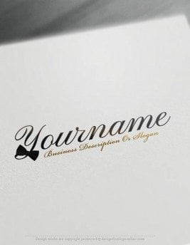 Create-a-Logo-Free---Bow-tie-Logo-Templates