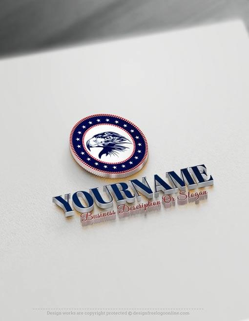 Create-a-Logo-Free---Eagle-USA-Logo-Templates