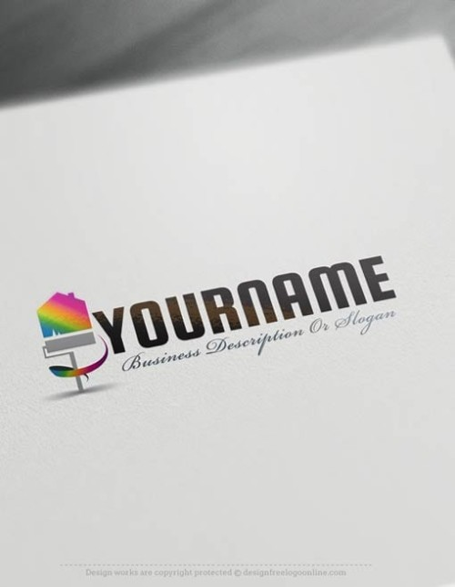 Painter Branding made with House Painting logo templates. Design a logo online with free logo design templates and the Painter logo creator