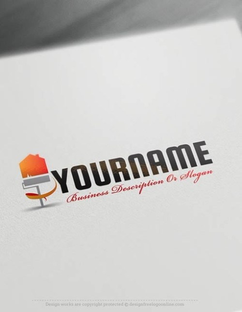 Create a Logo Free - House Painting logo templates