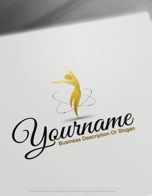 Easily customize this brand yourself with our free logo maker. Make your own Human Logo Templates designs without graphic designer skills.