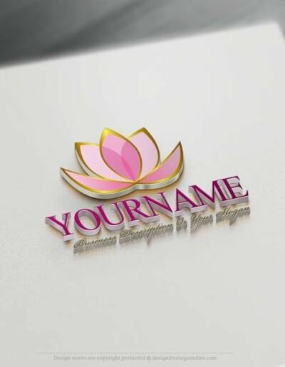 Create a Logo Free - Lotus Flower Logo Templates