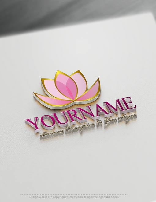 Create a Logo Free - Lotus Flower Logo Templates