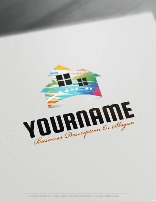 Painting House logo maker