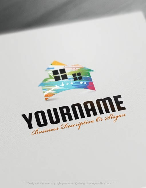 Easily customize this brand yourself with our free logo maker. Make your own Painting House logo templates without graphic designer skills.