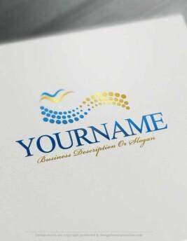 Create-a-Logo-Free---Seagulls-Logo-Templates