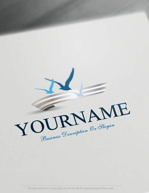 Create-a-Logo-Free-Seagulls-fly-Logo-Templates