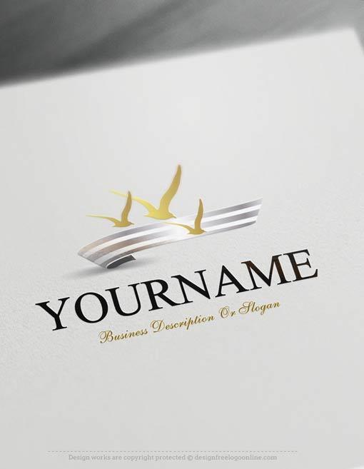 Create-a-Logo-Free---Seagulls-fly-Logo-Templates