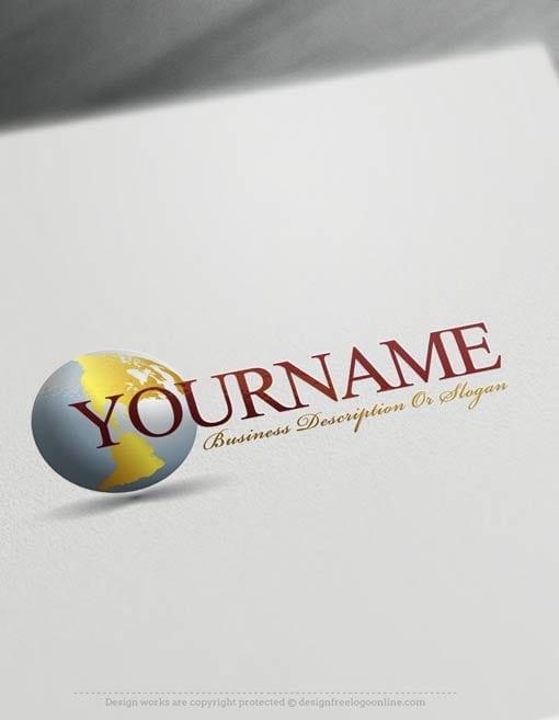 Create-a-Logo-Free---simple-globe-Logo-Templates