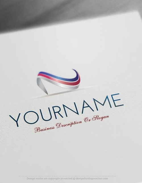 Ready made Online Abstract wave Logo Templates